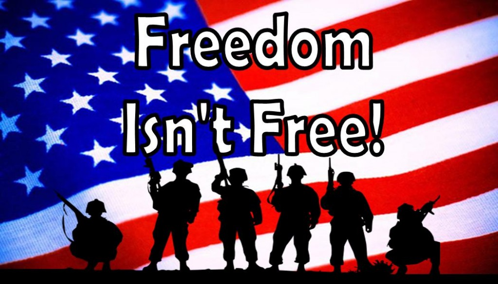 freedom isnt free Lyrics to 'freedom isn't free' by trey parker what would you do / if you were asked to give up your dreams for freedom / what would you do / if asked to make.